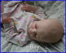 Reborn doll Luisa by Karola Wegerich, full limbs, painted hair, COA