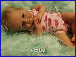Reborn doll Mary by Olga Auer, full limbs, rooted, magnet, COA