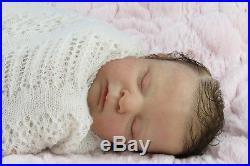 Reborn newborn limited edition baby girl doll Zoey by AJPAngela Jane Pennington