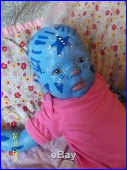 Reborn ready to ship Mythical artist baby doll vinyl Avatar Fantasy FAIRY Alien
