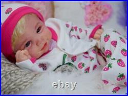 Regina's baby reborn doll Vivienne Faber it is a GIRL 20' HUMAN hair