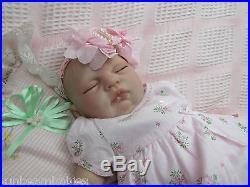 SUGAR BABY / DONNA RUBERT NEW REBORN REALISTIC FAKE BABY GIRL DOLL VERY NEWBORN