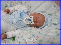 SUNBEAMBABIES NEW REBORN BABY BOY DOLL LIFELIKE FAKE REALISTIC NEWBORN