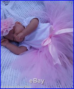 SUNBEAMBABIES SOFT SILICONE VINYL CHILDS 1st REBORN BABY BALD DOLL & BABY BOTTLE