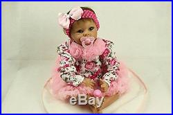 SanyDoll Reborn Baby Doll Soft Silicone 22inch 55cm Magnetic Lovely Lif