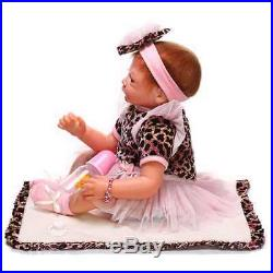 SanyDoll Reborn Baby Doll Soft Silicone 22inch Magnetic Lovely Lifelike