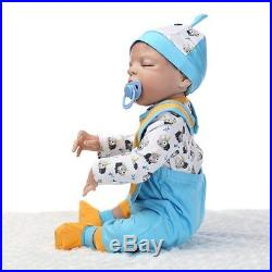 SanyDoll Reborn Baby Doll Soft Silicone vinyl 22 inch 55 cm Lovely Lifelike Cute