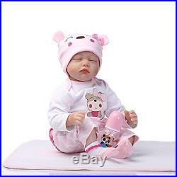 SanyDoll Reborn Baby Doll Soft Silicone vinyl 22inch 55cm Lovely Lifelike Cute