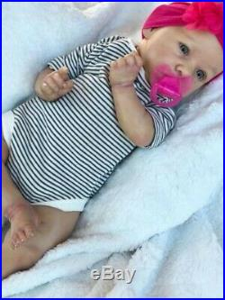 Saskia by Bonnie Brown Reborn Girl Baby Doll Realistic Pre-Owned