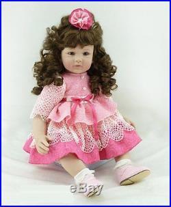 Silicone Reborn Baby Doll Soft Vinyl Babies dolls 22inch Girl Full New Handmade