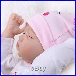 Silicone Reborn Baby Doll Soft vinyl 22'' Newborn Lifelike Full Handmade