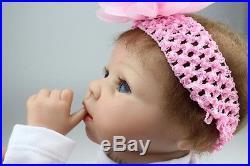 Silicone Reborn Baby Doll Soft vinyl Real Lifelike Full Handmade Newborn Body