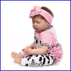 Silicone Reborn Baby Doll realistic dolls Soft Vinyl Babies 22inch Girl Full