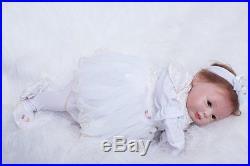 Silicone Reborn Baby Girl doll 22 lifelike soft vinyl Newborn Full Handmade NEW