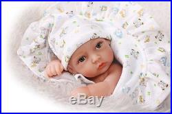 Silicone Reborn Real Baby Doll Boy Soft vinyl Newborn Lifelike Handmade 11'