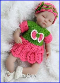 Silicone Vinyl Doll 16 inch Reborn Baby Doll Newborn Lifelike Full Handmade NEW