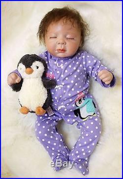 Silicone reborn baby doll 20 lifelike soft vinyl Full Real Body Babies dolls