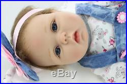 Silicone vinyl reborn baby dolls lifelike baby 22 newborn handmade doll gift