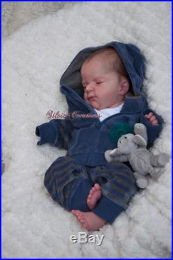Silvia's Creations Reborn Ellis Prototype by Sold Out Olga Auer Baby Boy Doll