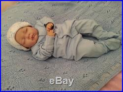 Sleeping Reborn Baby boy Doll. #RebornBabyDollART UK