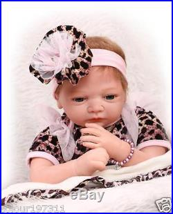Soft Silicone Simulation 22Reborn Baby Dolls Handmade Lifelike Newborn Baby