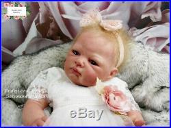 Studio-Doll Baby Reborn GIRL JUDITH by Adrie Stoete MIKROROOTING HAIR so real