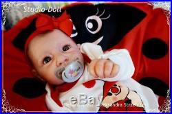 Studio-Doll Baby Reborn ladybug GIRL YANUSHA by LINDE SCHERER ultra reality