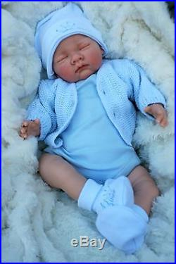 Stunning Reborn Baby Boy Doll Sleeping Prince Outfit S800