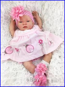 Stunning Reborn Baby Girl Doll Spanish Pink Ladybird Dress C
