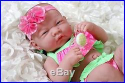 Summer Girl Preemie Berenguer Newborn Baby Doll Clothes Real Vinyl 14 life like