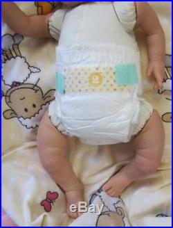 Sunbeambabies Blue Eyed Happy, Veined Childs Lifelike Reborn Fake Baby Boy Doll