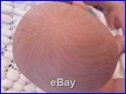 Sunbeambabies Lifelike Child`s 1st Reborn Baby Doll Soft N Squishy & Belly Plate
