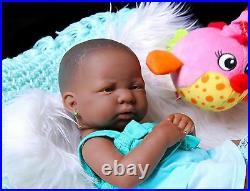 Super Deal Baby Girl African American Doll Reborn Berenguer 14 Vinyl Silicone