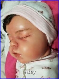 Sweet Girls Sleeping Realistic Lifelike vinyl Reborn Newborn Baby Doll Noah Kit