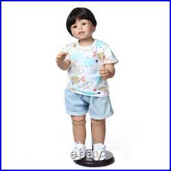 Toddler Boy Reborn Dolls Life Size Standing Reborn Baby Full Body Vinyl Toys 28