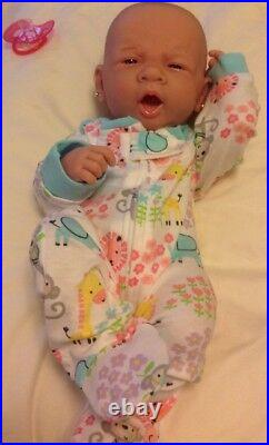Too Precious Baby Girl! Berenguer Preemie Lifelike Reborn Doll W Paci, Bottle +