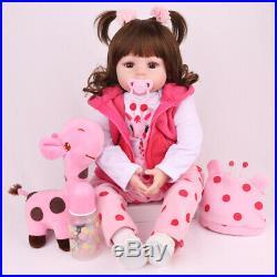 Twins 18 Reborn Baby Dolls 100% Handmade 2 Pcs Clothes Silicone Vinyl Preemie