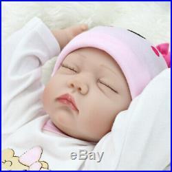 Twins Reborn Baby Dolls 22 Newborn Babies Girl+Boy Vinyl Silicone Handmade Doll
