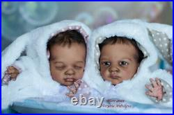 Twins reborn baby doll Buttercup and Poppy//Artist Tatyana Melnikova