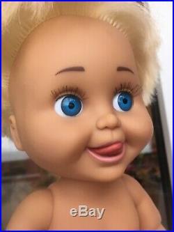 VERY RARE Galoob Baby Face Vinyl 13 Doll BOY Denny Sasha 1991 GUC