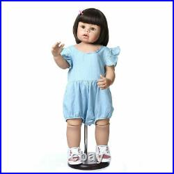 Vinyl Reborn Toddler Dolls 28 Real Life Huge Standing Girl MasterPiece Doll Toy