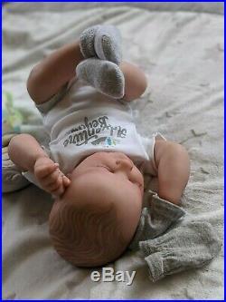 WILLIAMS NURSERY REBORN BABY BOY DOLL Realborn Reese Sleeping REALISTIC NEWBORN