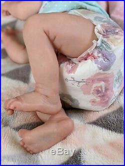 WILLIAMS NURSERY REBORN BABY GIRL DOLL TWIN A by BONNIE BROWN REALISTIC NEWBORN