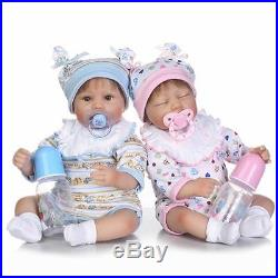 Xmas Gift Silicone Reborn Baby dolls Lifelike Baby Newborn Doll Twins Doll