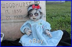Zombie Walking Dead Z Nation Reborn Baby Doll Horror 18 OOAK ART